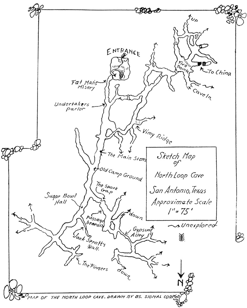 robber baron cave maps tcma Allegory of the Cave Text 1921 north loop cave map