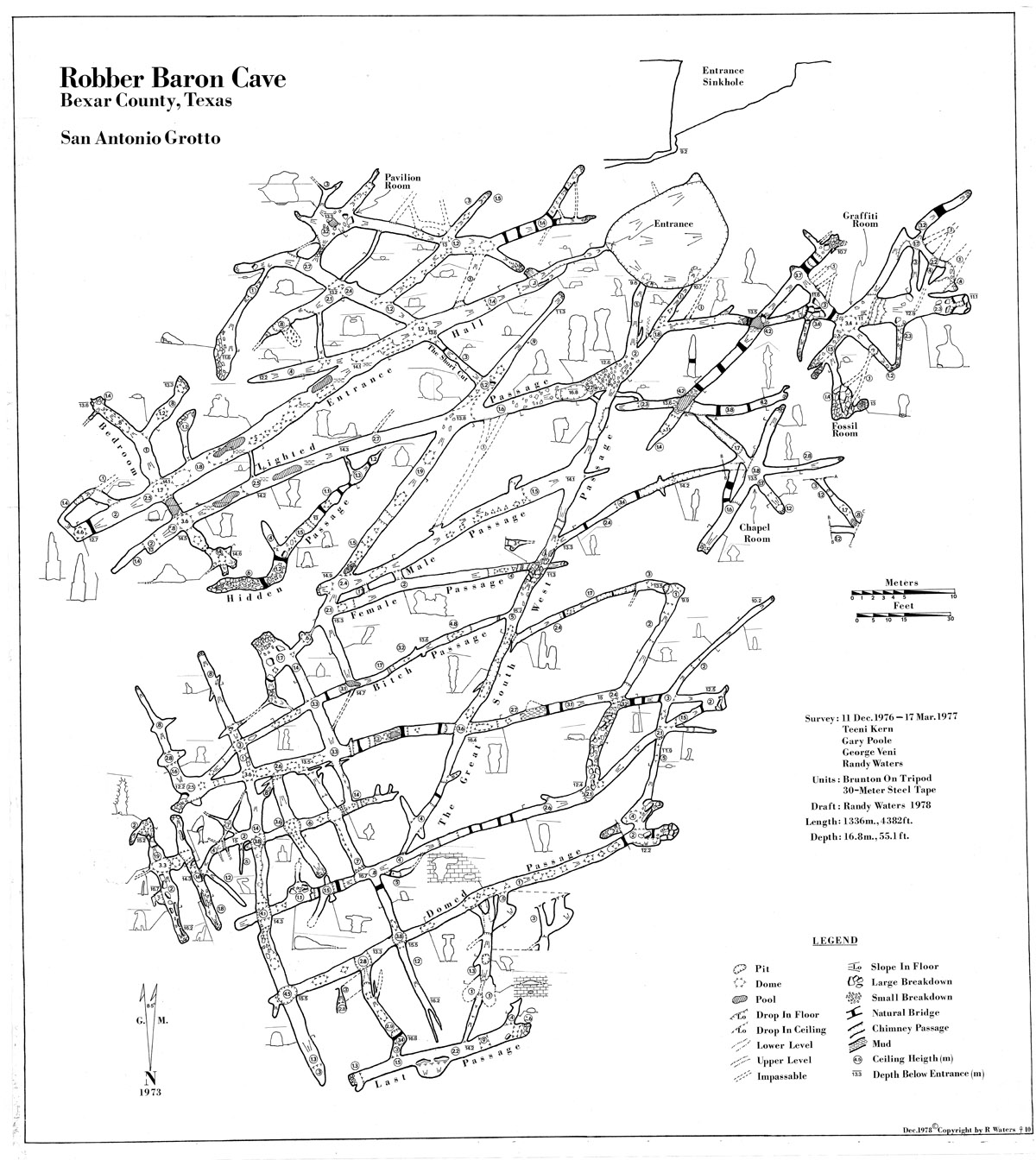 robber baron cave maps tcma How Crystals Form in Caves 1978 robber baron cave map